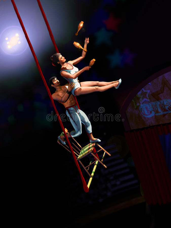 Download Circus acrobats stock illustration. Image of show, people - 22154411