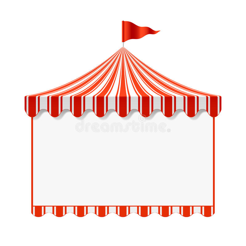 Circus advertisement background vector illustration