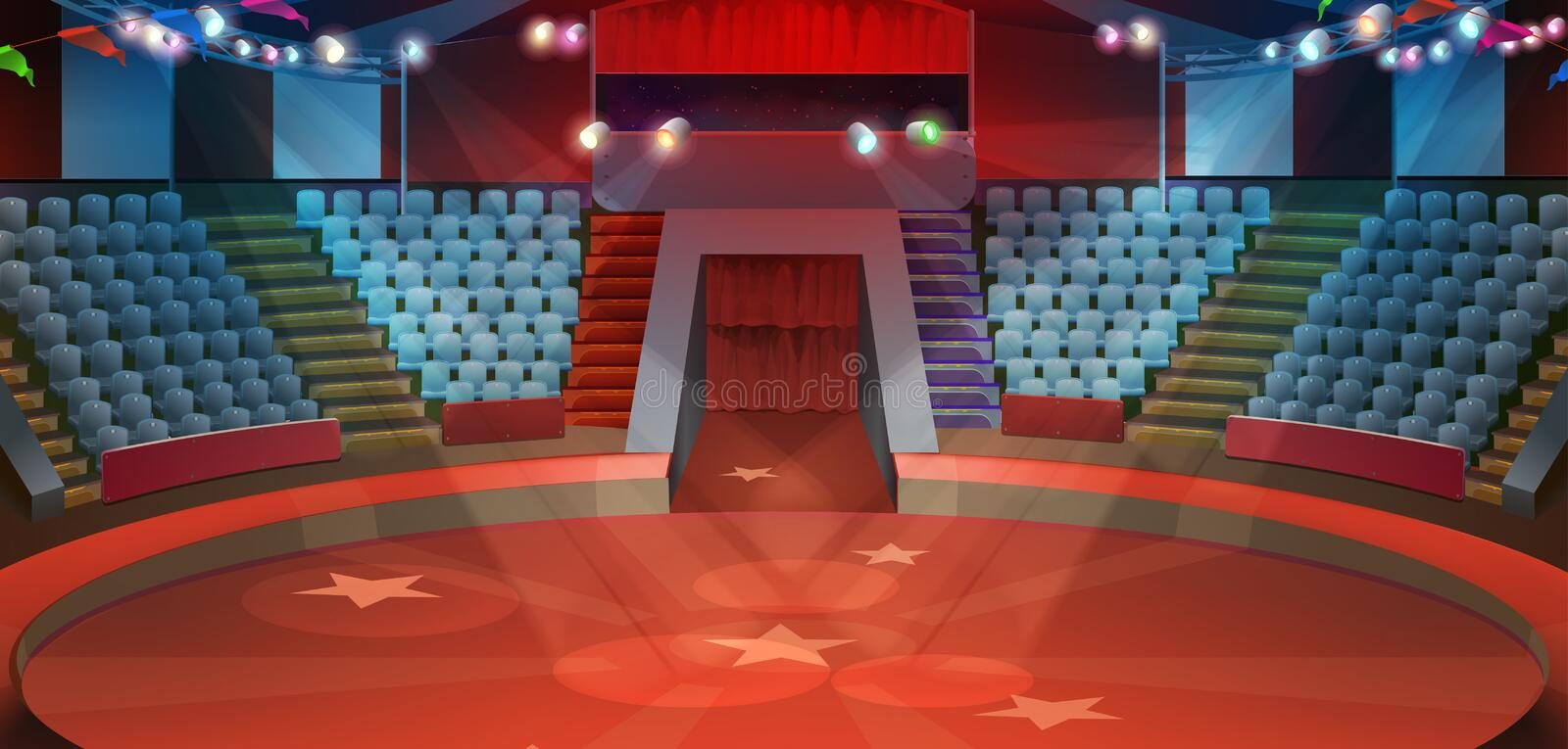 Circus arena background royalty free illustration