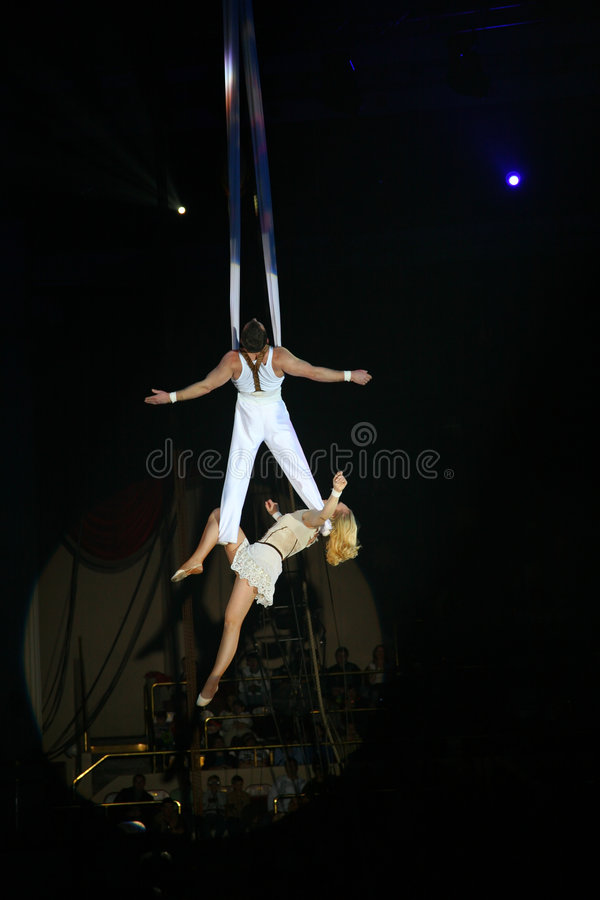 Circus artists royalty free stock images