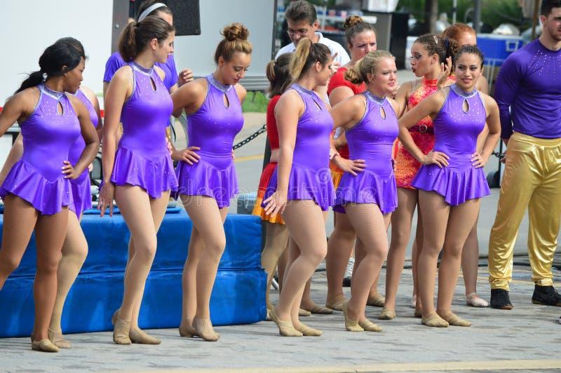 Circus bij het Festival van Suikermaïsblauw royalty-vrije stock foto