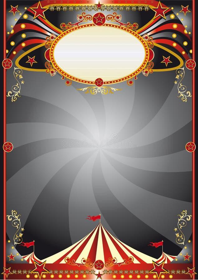 Circus black background stock illustration