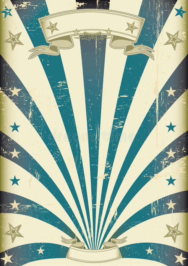 Circus blue beams vintage poster stock illustration