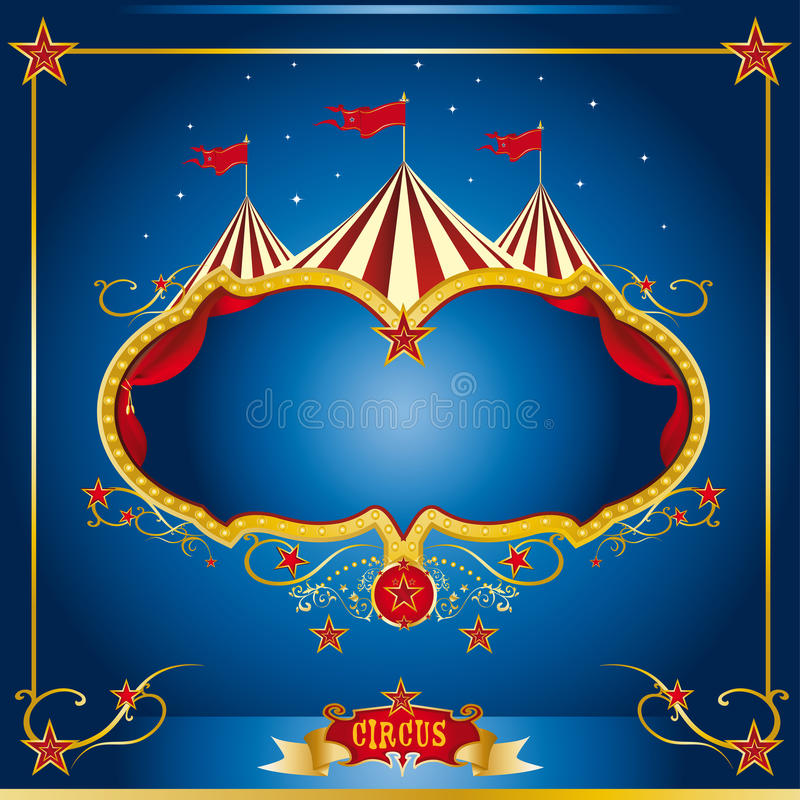 Download Circus blue leaflet stock vector. Illustration of background - 24085424