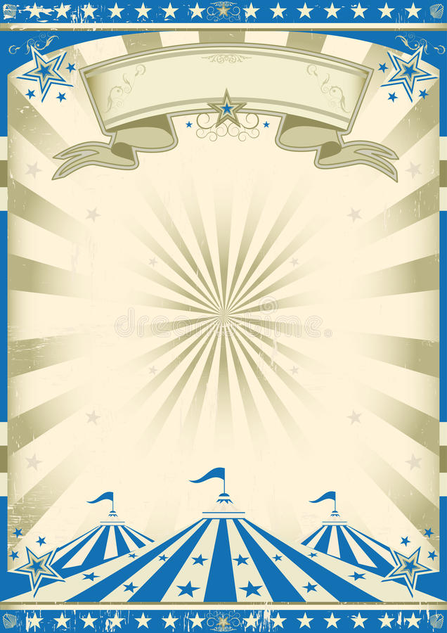 Circus blue vintage. A circus vintage poster for your show