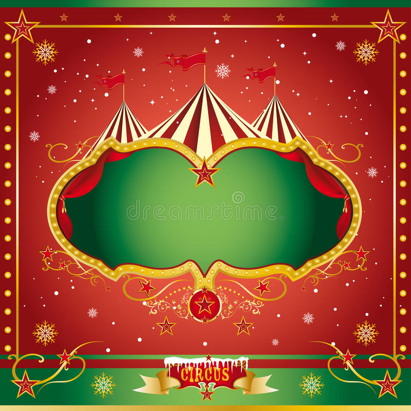 Circus christmas leaflet