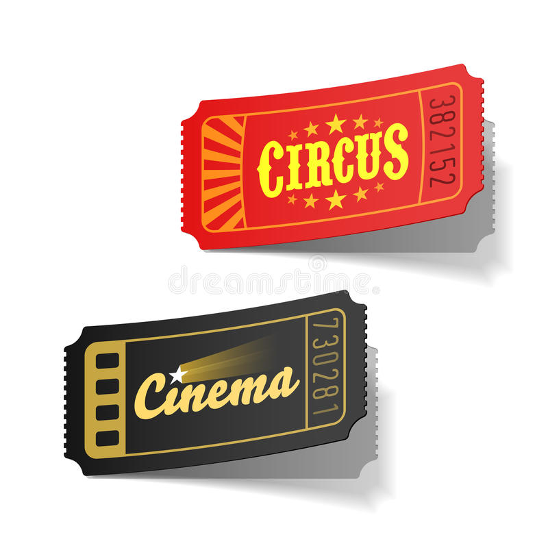 Download Circus and cinema tickets stock vector. Image of amusement - 24392219