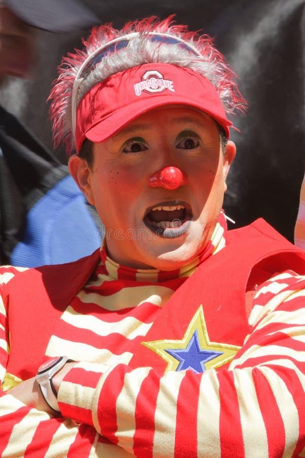 Circus Clown. The Cinco de Mayo Parade in New York City.Photo taken on May 8, 2011 stock photography