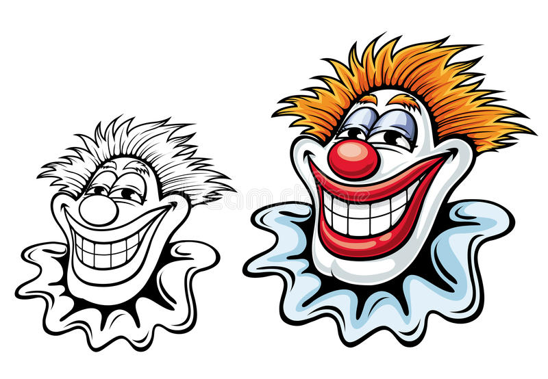 Download Circus clown stock vector. Image of cheerful, happiness - 25522811
