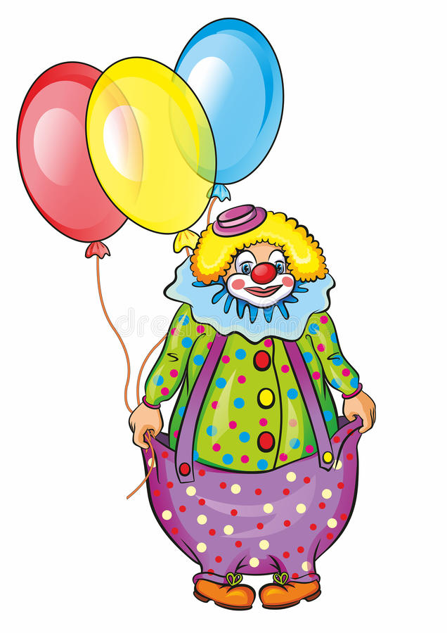 Circus clown and balloons royalty free stock images