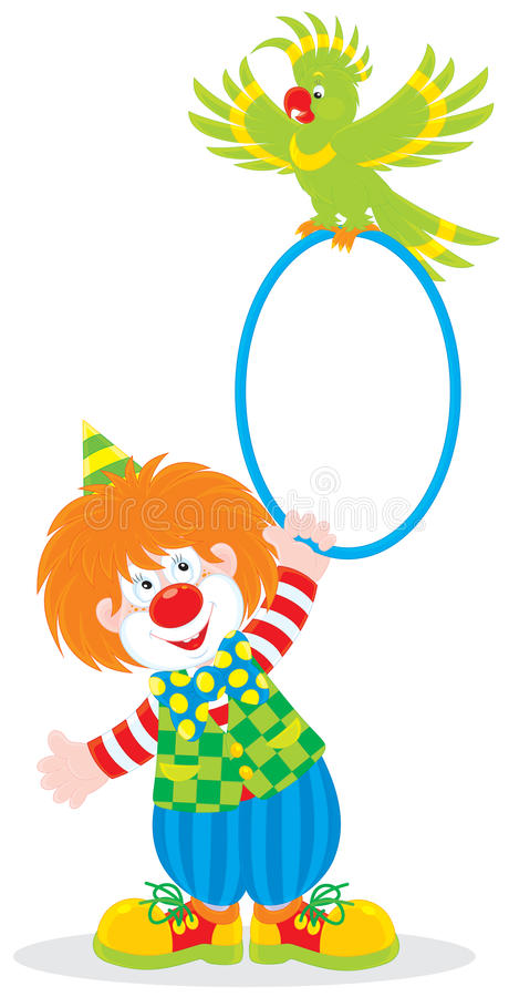 Download Circus clown and parrot stock vector. Image of circus - 25036243