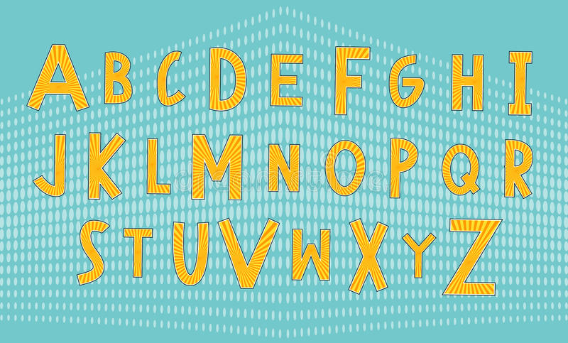 Circus and comic font stock illustration