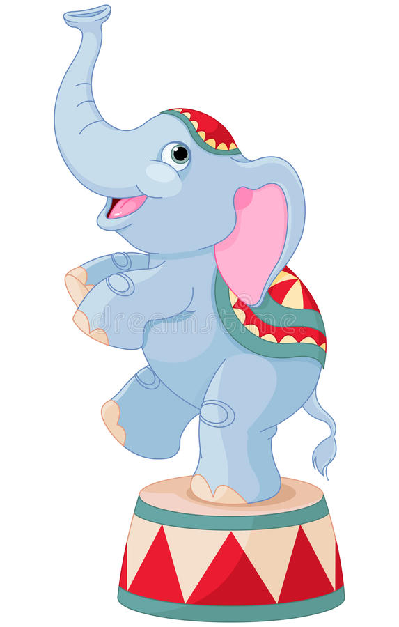 Circus Elephant vector illustration
