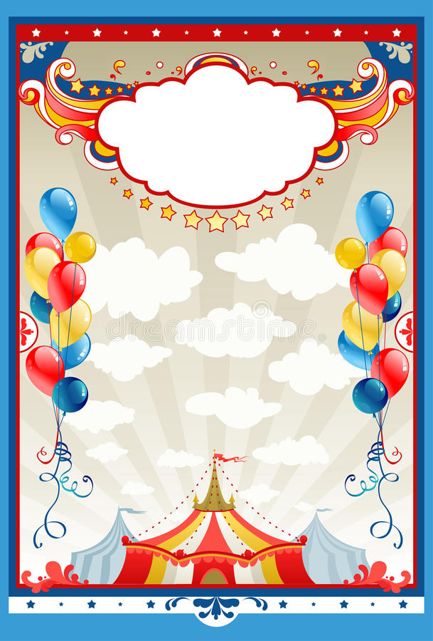 Download Circus frame stock vector. Image of frame, beige, balloon - 18526265