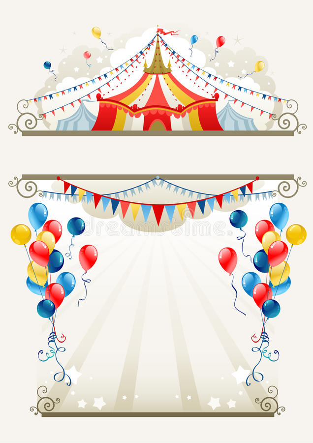 Download Circus frame stock vector. Image of retro, circus, advertisement - 21489760