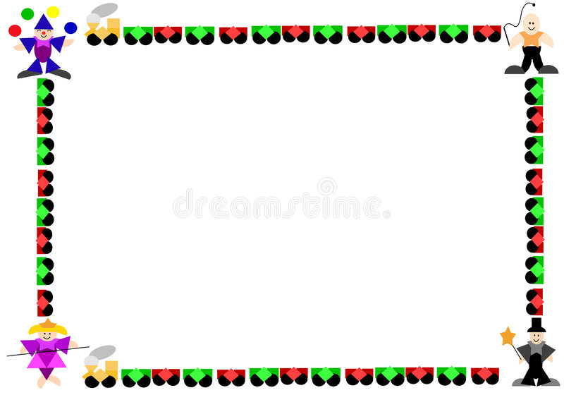 Circus Frame stock illustration. Illustration of line, costume - 689427
