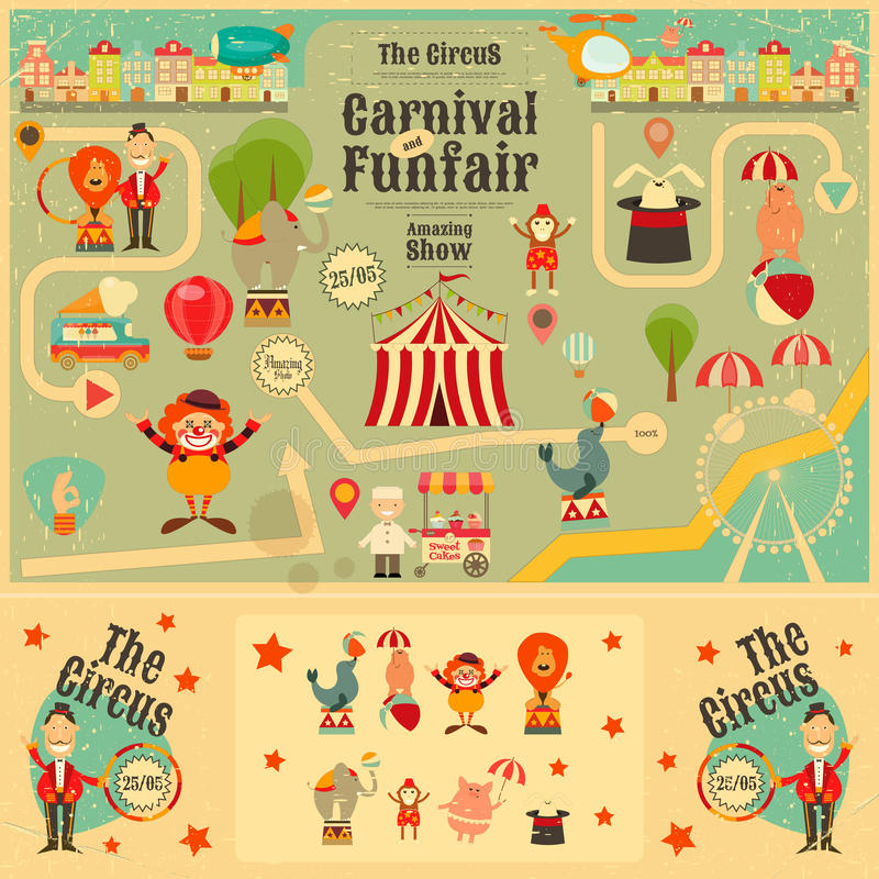 Circus stock illustration