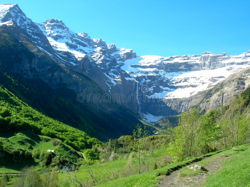 The Circus of Gavarnie in France royalty free stock image
