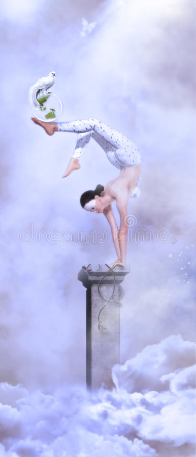 Circus Girl. Fantasy art for your projects and/or pleasure royalty free stock images