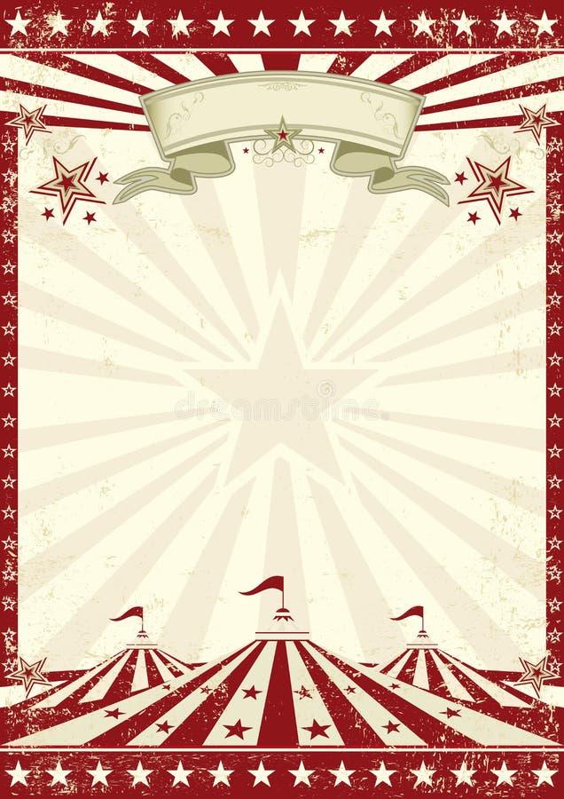 Circus grunge red poster stock photo