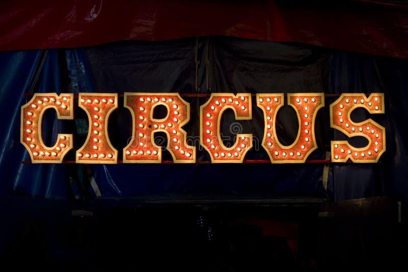 Circus het van letters voorzien royalty-vrije stock afbeelding