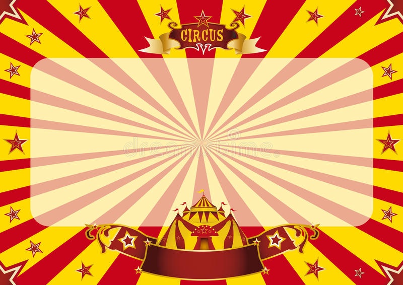 Circus horizontal red and yellow royalty free illustration