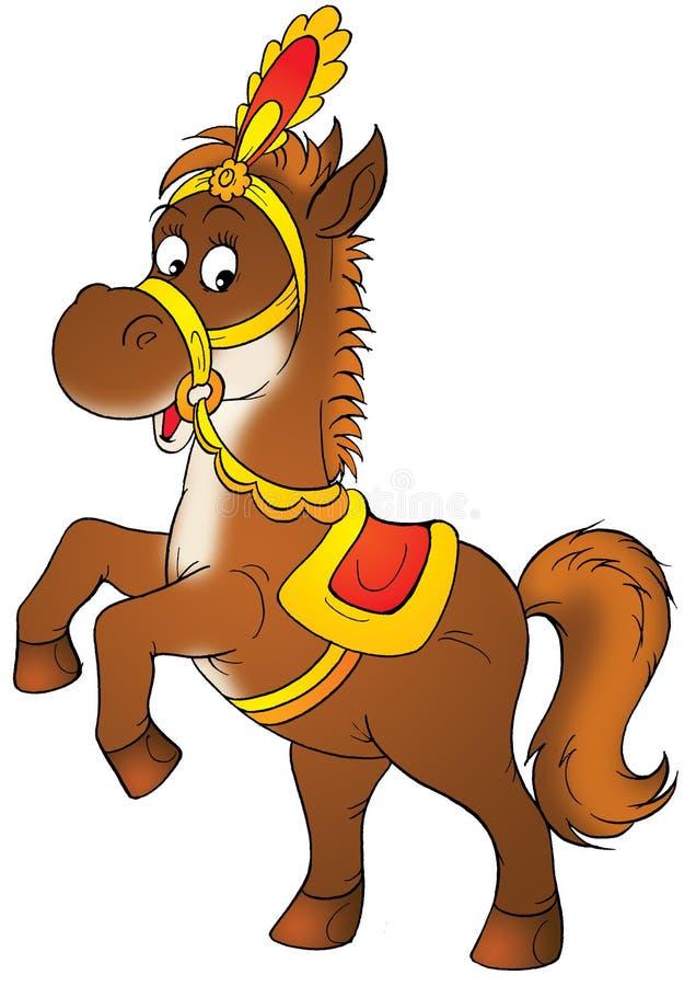 Circus horse royalty free illustration