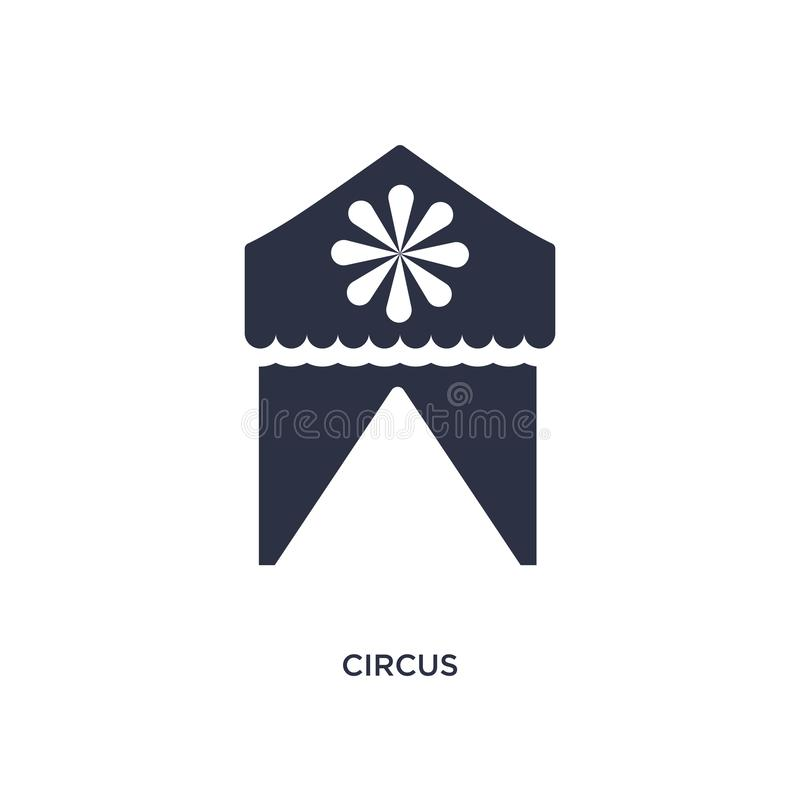 circus icon on white background. Simple element illustration from kids and baby concept vector illustration