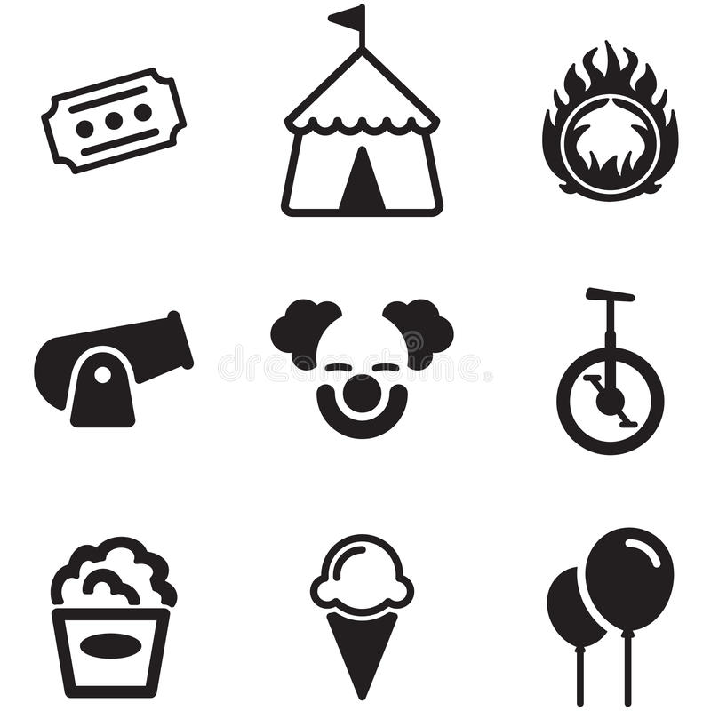 Circus Icons Stock Vector