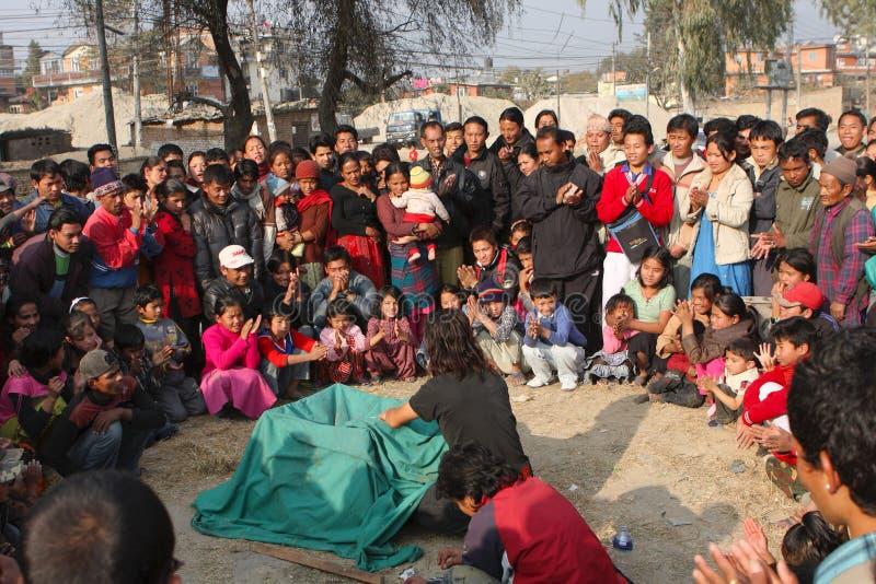 Download Circus in Kathmandu editorial stock photo. Image of area - 15101498