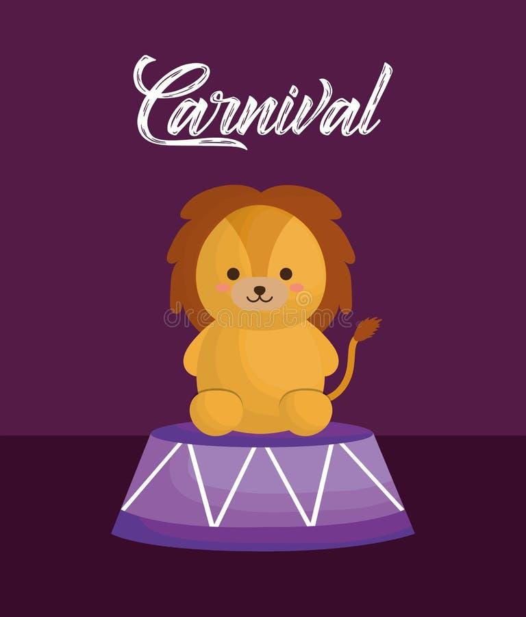 Circus animals design stock vector  Illustration of animal