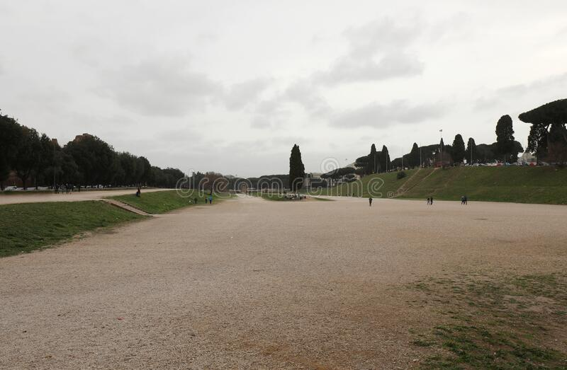 Circus maximus a wide public Park in ROME royalty free stock photography