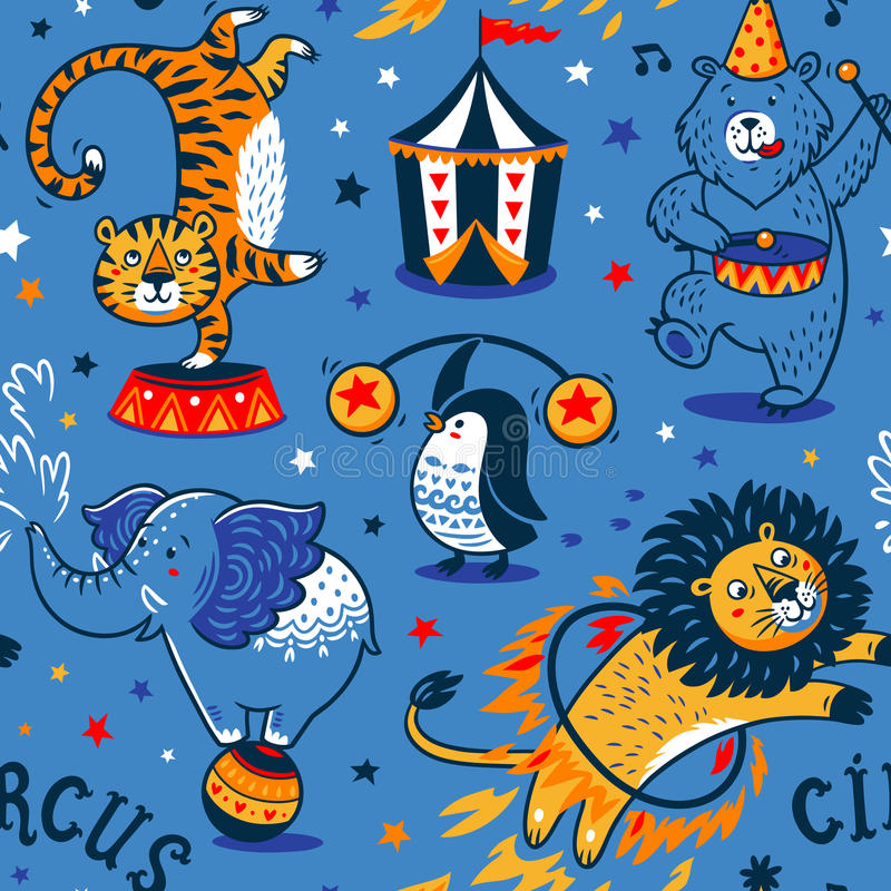 Circus naadloos patroon royalty-vrije illustratie