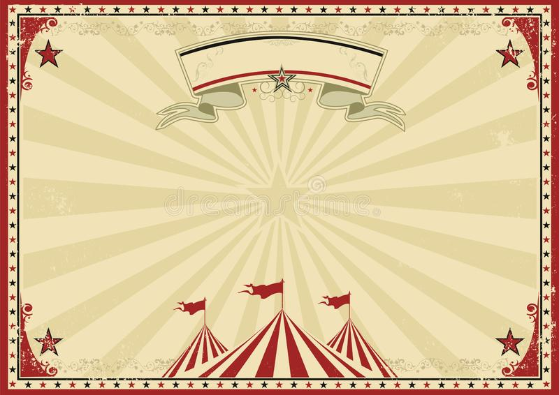 Circus old red horizontal background stock photo
