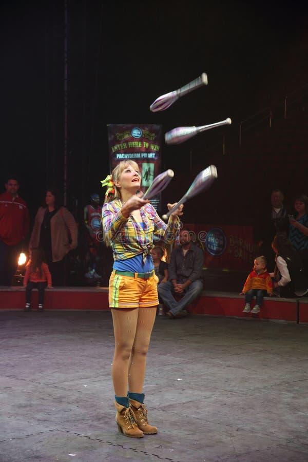 Circus performer stock photos