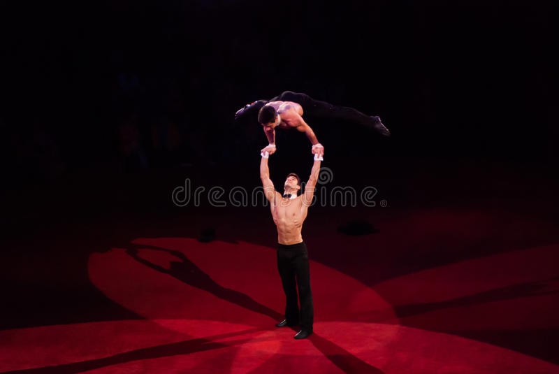 Circus performers royalty free stock photos