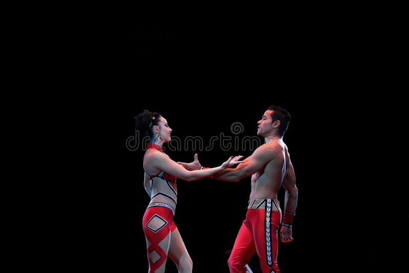 Circus performers stock image