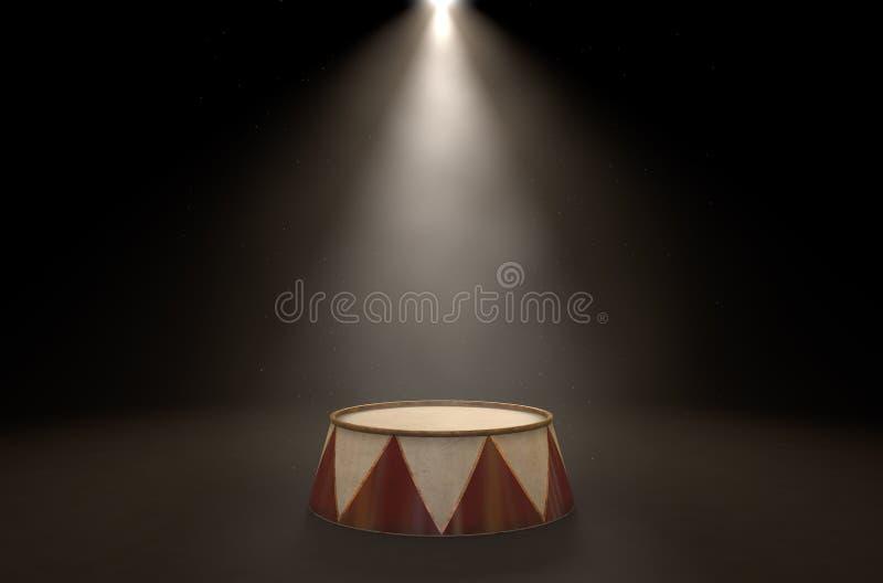 Circus Podium Spotlit royalty free illustration