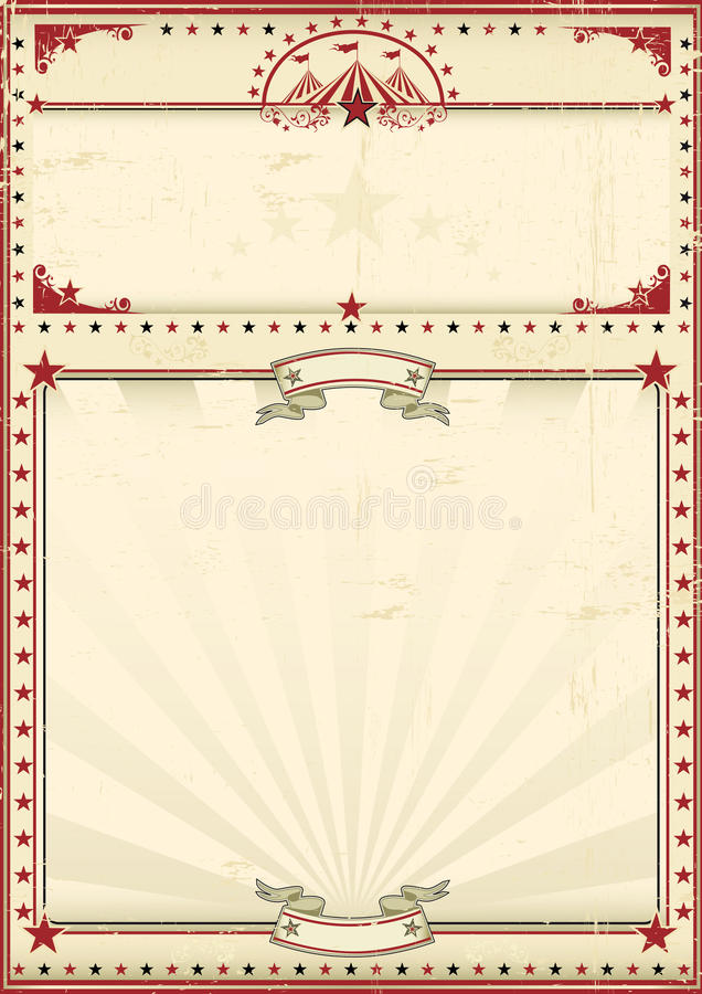 Circus poster red vintage royalty free illustration