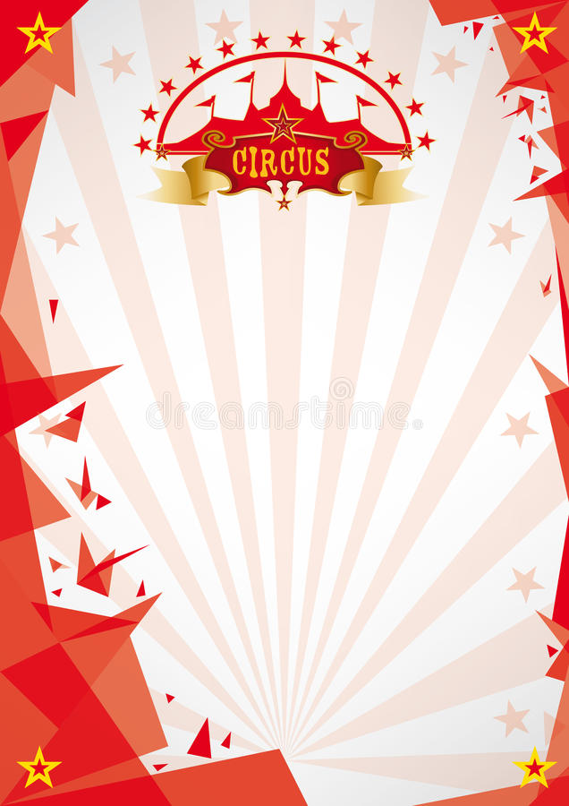 Circus red background origami royalty free stock photo