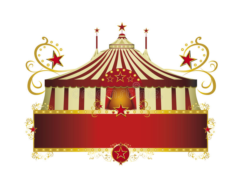 Circus red border frame stock photography