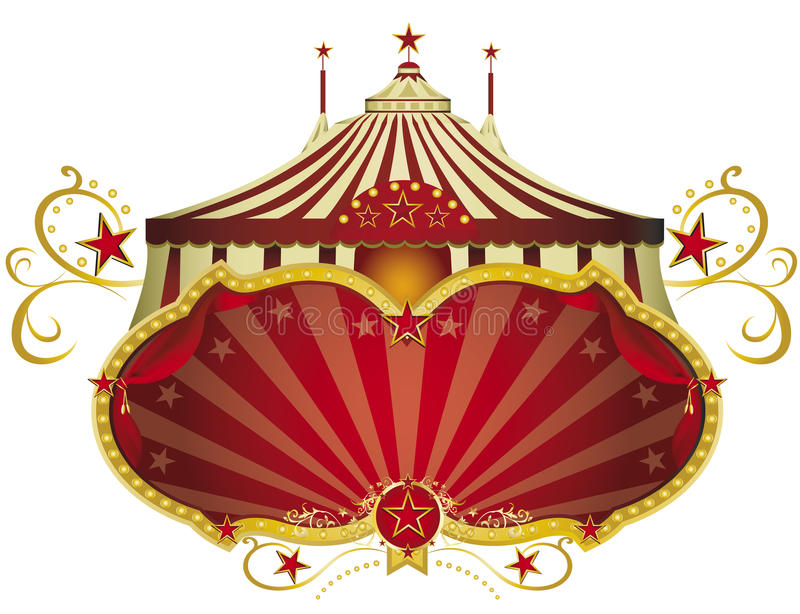 Circus red signboard stock images