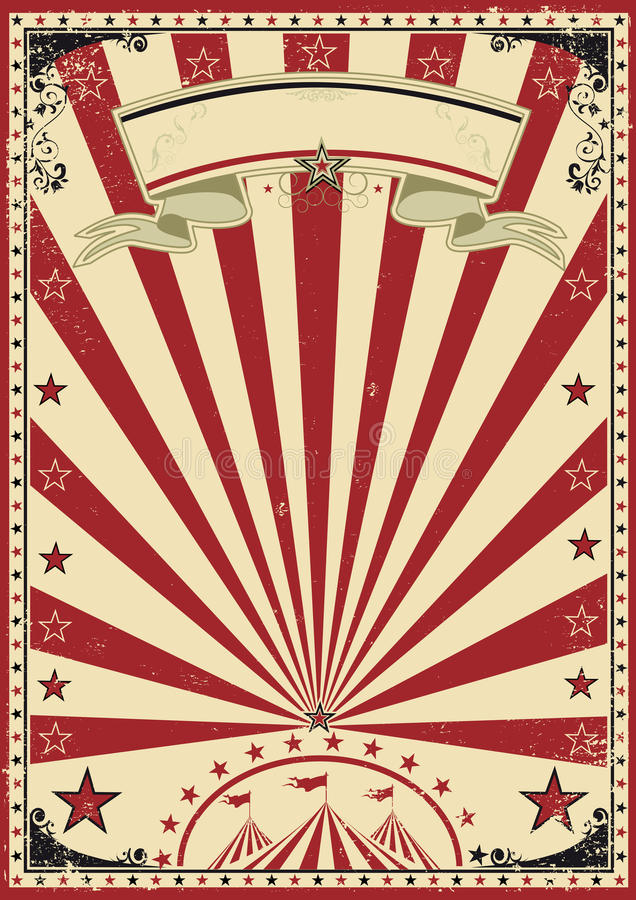 Download Circus red vintage stock vector. Image of circus, border - 28826001
