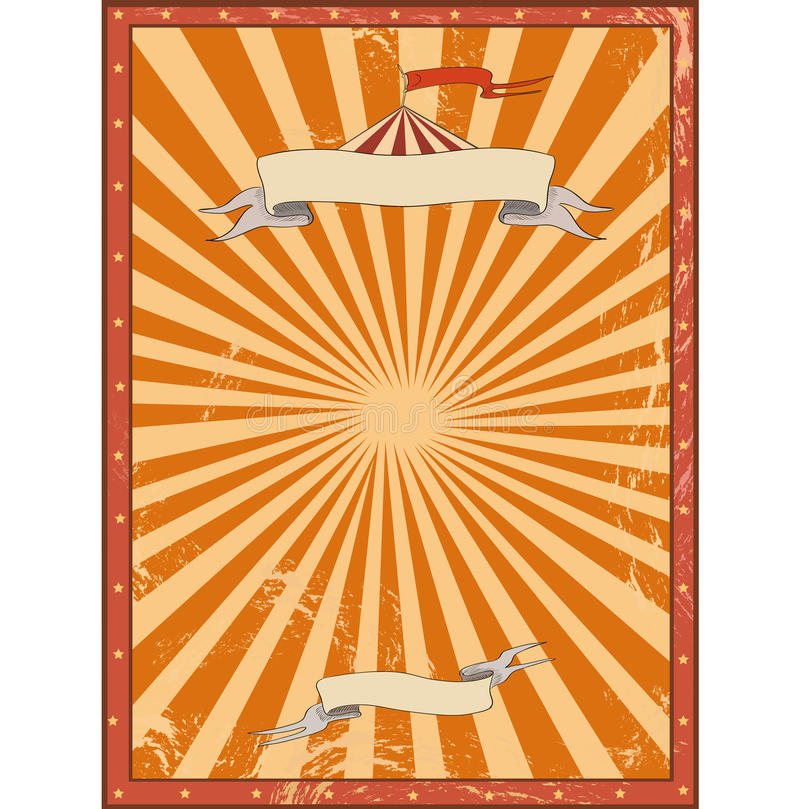 Circus red vintage background for a poster stock illustration