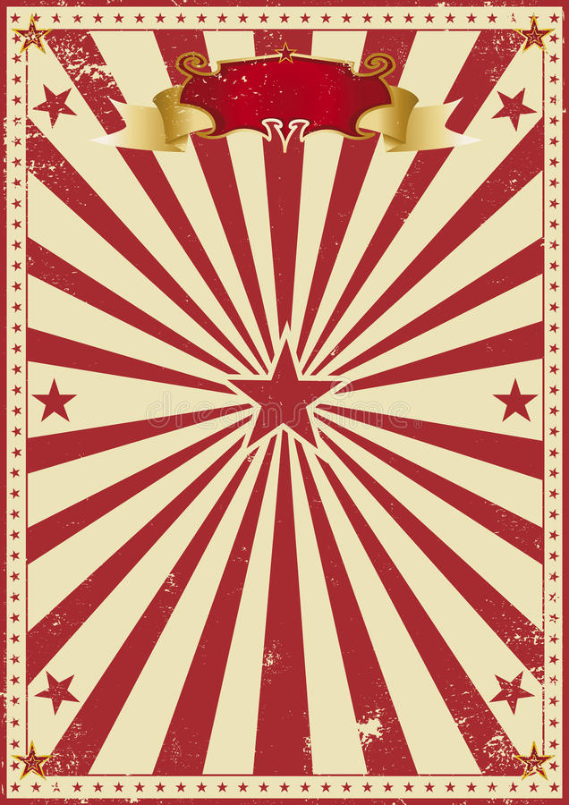Circus red vintage royalty free stock images