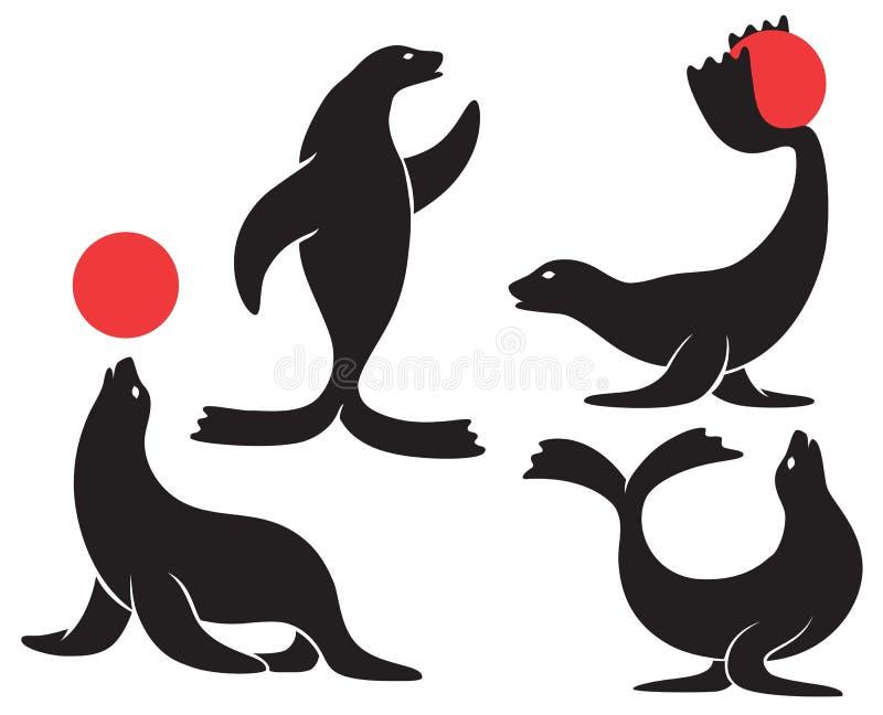 Circus seal royalty free illustration