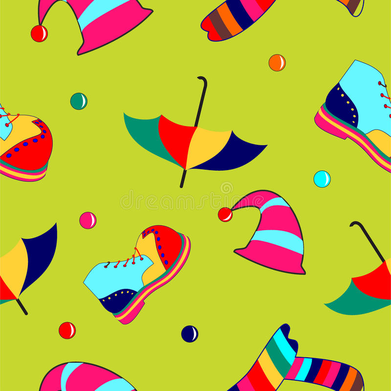 Circus seamless pattern vector illustration