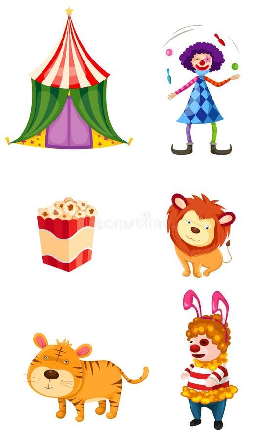 Circus set royalty free illustration