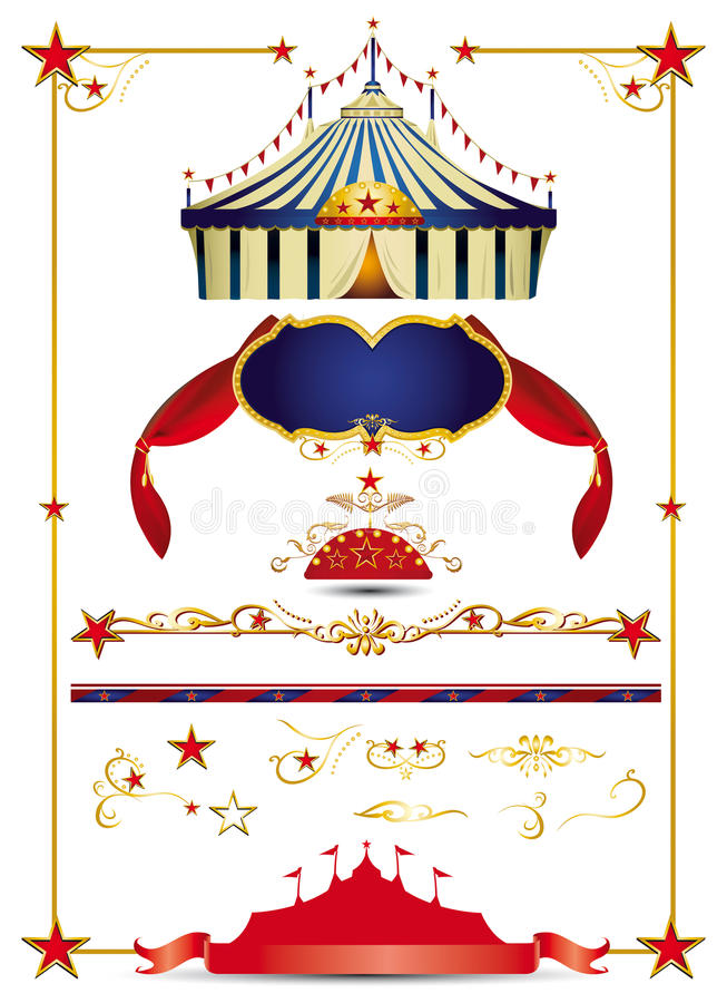 Download Circus set stock vector. Illustration of curtains, isolated - 22985313