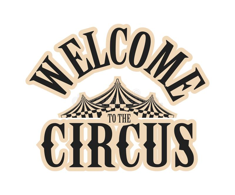 Circus show logo stock illustration